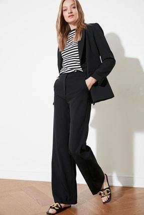 TRENDYOLMİLLA Siyah Dökümlü Geniş Paçalı  Pantolon TWOAW21PL0332 2