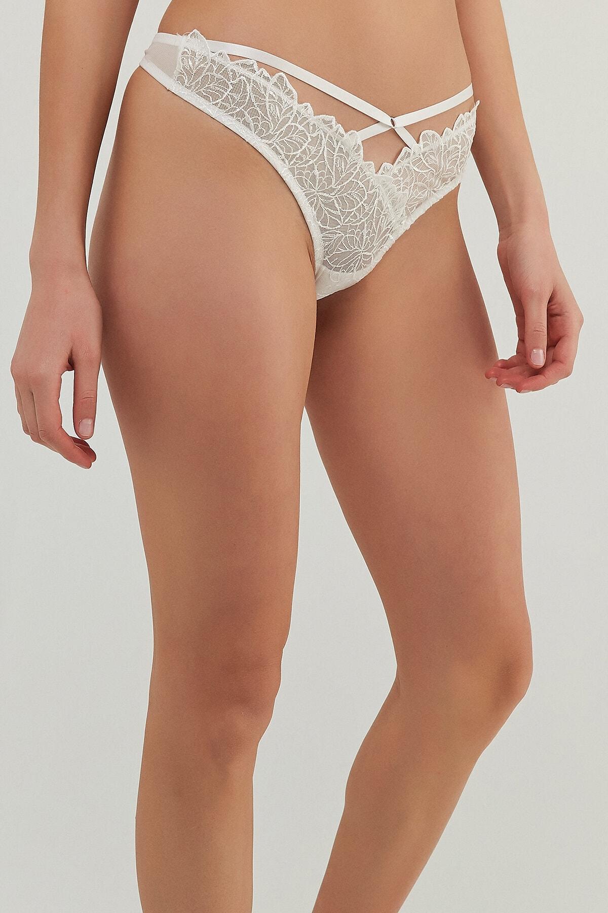 Penti Kadın Beyaz Curvy Highleg String Külot