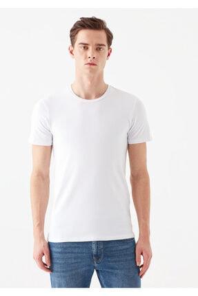 Mavi Beyaz Basic Tişört 2