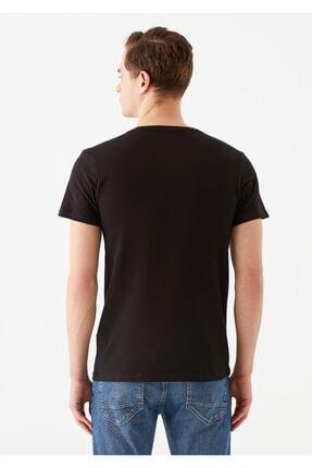 Mavi Siyah Basic Tişört 3