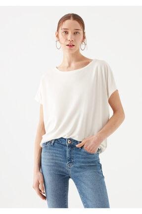 Mavi Lux Touch Beyaz Modal Tişört 2
