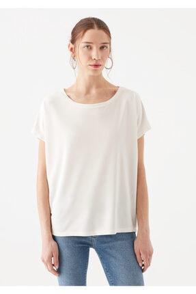Mavi Lux Touch Beyaz Modal Tişört 3