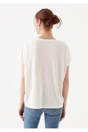 Mavi Lux Touch Beyaz Modal Tişört 4