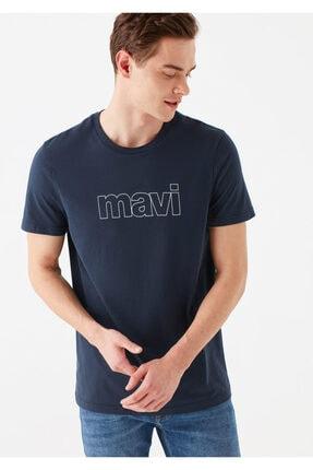Mavi Logo Baskılı Lacivert Tişört 1