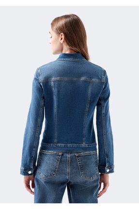 Mavi Kadın Daisy 90 s Zımparalı  Jean Ceket 1113632061 3