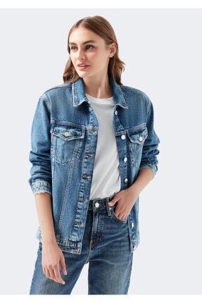 Mavi Kadın Karla Gold Icon  Jean Ceket 110154-30868 0
