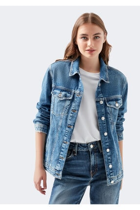 Mavi Kadın Karla Gold Icon  Jean Ceket 110154-30868 1