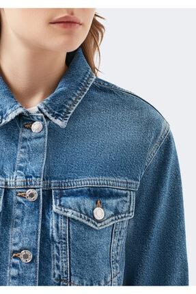 Mavi Kadın Karla Gold Icon  Jean Ceket 110154-30868 4