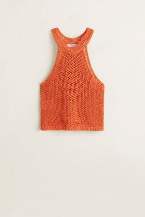 Mango Kadın Parlak Turuncu Bluz 43047802 2