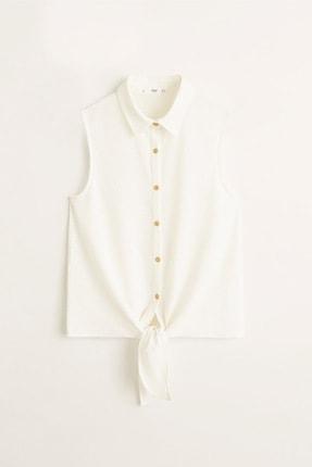 Mango Kadın Kırık Beyaz Bluz 43057773 2