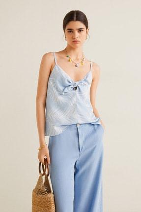 Mango Kadın Açık/Pastel Mavi Bluz 43039077 1