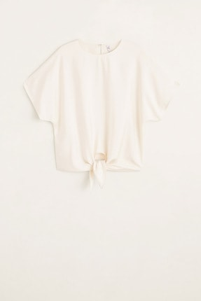 Mango Kadın Kırık Beyaz Bluz 43057029 2