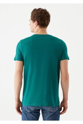 Mavi Erkek Yeşil Logo Baskılı T-Shirt 3