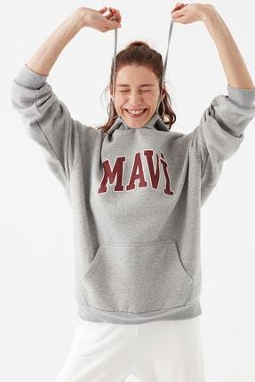 Mavi Kadın Logo Baskılı Gri Sweatshirt 1600361-33396 4