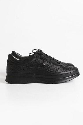 Marjin Kadın Siyah Hakiki Deri Comfort Ayakkabı Amaso 2
