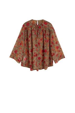 Mango Kadın Kahverengi Bluz 41095032 3