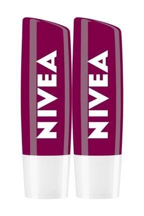Nivea Böğürtlen Dudak Bakımı Lipstick 4,8 G X 2 Avantajlı Paket 0