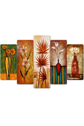 hanhomeart Çiçek Tablo-parçalı Ahşap Duvar Tablo Seti-5pr-816 3
