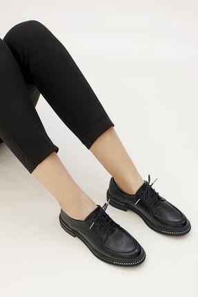 Marjin Kadın Siyah Oxford Ayakkabı Laves 1