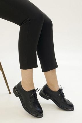 Marjin Kadın Siyah Oxford Ayakkabı Laves 3