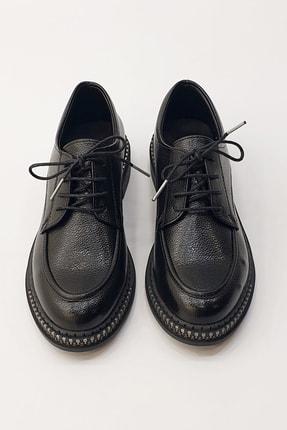 Marjin Kadın Siyah Oxford Ayakkabı Laves 4