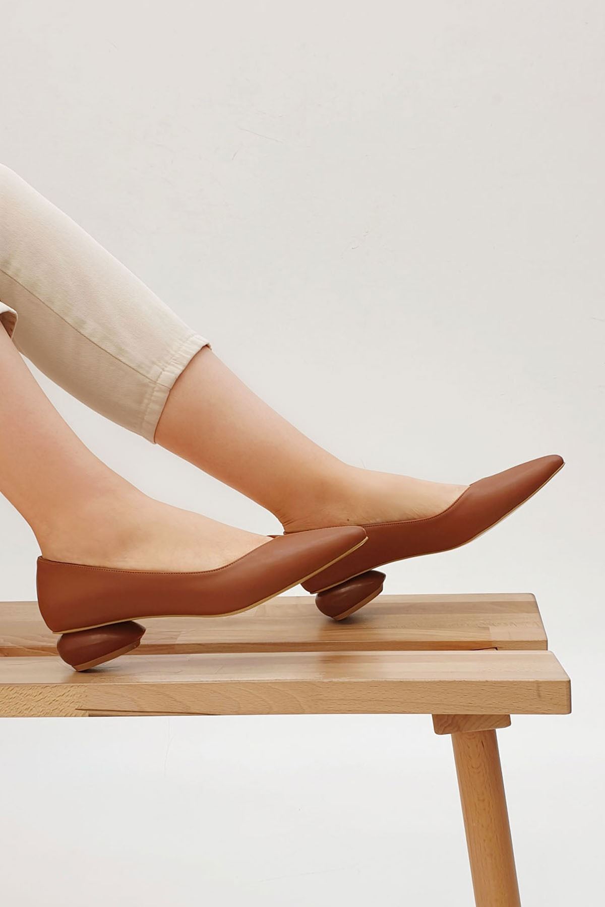 Kadın Camel Günlük Klasik Topuklu Ayakkabı Evara