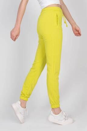Addax Kadın Fıstık Yeşil Paçası Lastikli Eşofman Eşf0274 - M9N9 Adx-00010702 2