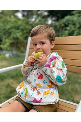 yorni Deluxe Uzun Kollu Bebek Mama Önlüğü 2-4 Yaş 0