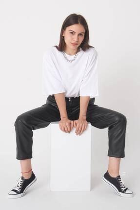 Addax Kadın Beyaz Oversize T-Shirt P0731 - G6 - K7 Adx-0000020596 2