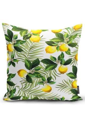 Ysahome Tek Taraf Baskı Özel Tasarım Suluboya Meyveler Temalı Dekoratif Modern Kırlent Yastık Kılıfı 0
