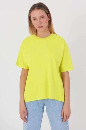 Addax Kadın Fıstık Yeşil Oversize Basic T-Shirt P0730 - J6J7 Adx-0000020569 3