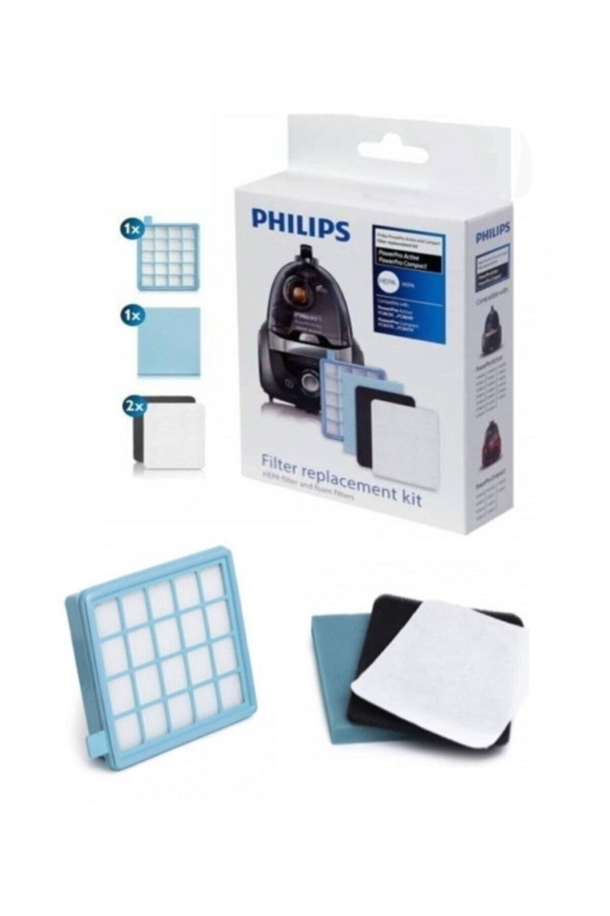Powerpro Compact Fc9323/07 Hepa Filitre Seti