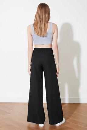 TRENDYOLMİLLA Siyah Yanları Çıtçıtlı Geniş Paça Pantolon TWOSS20PL0398 4