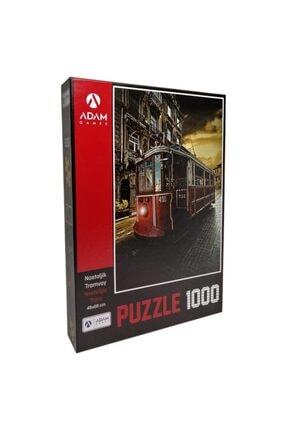 1000 Parça Nostaljik Tramvay Puzzle 1000 PARÇA