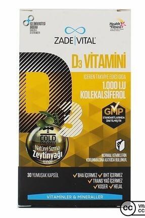 Zade Vital D3 Vitamin 30 Kapsül 1