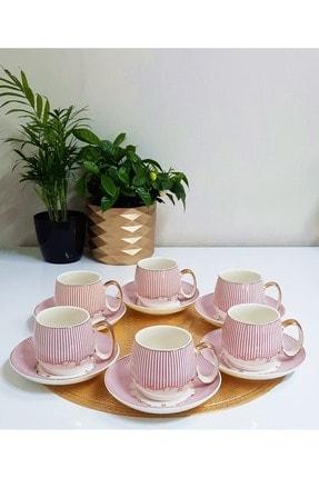TİLLOEVDUNYASİ Renkli Porselen Nescafe Çay Fincan Takımı 6 Kişilik 0