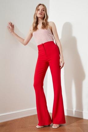 TRENDYOLMİLLA Kırmızı İspanyol Paça Pantolon TOFAW19BB0581 2