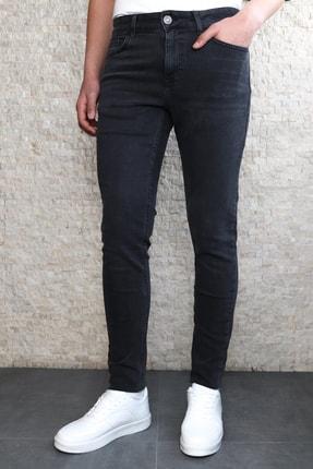 Collezione Collezıone Jeffrey Taşlamalı Slim Fit Antrasit Kot Pantolon 0