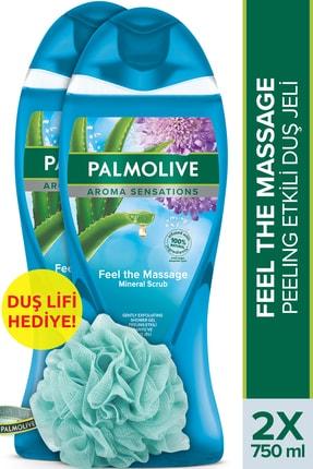 Palmolive Aroma Sensations Feel The Massage Cilt Yenileyici Duş Jeli 2 X 750 ml + Duş Lifi Hediye 0