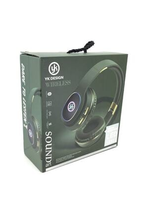 YK Design Rgb Led Işıklı Bluetooth Stereo Kablosuz Kulaklık Yeşil + Sd Kart 4