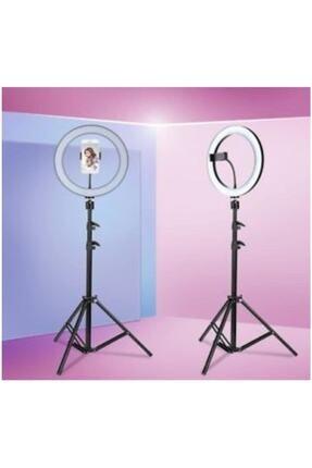 SAYWİN Kuaför Makyaj Çekimleri Ring Light Sürekli 10 inç Işık 2m 0