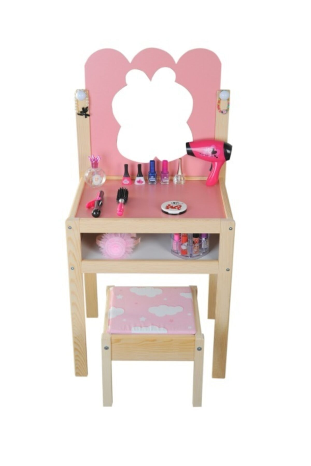 Ahşap Çocuk Makyaj Masası