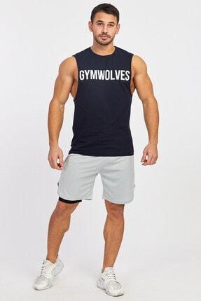 Gymwolves Erkek Spor Şort Çift Katmanlı | Gri | Comfortable Serisi 4