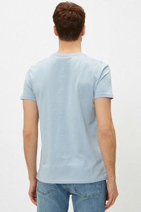 Koton Erkek Açık Mavi T-Shirt 1YAM12138LK 3