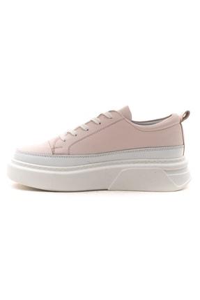 GRADA Pudra Rengi Kalın Tabanlı Hakiki Deri  Sneaker Ayakkabı 3