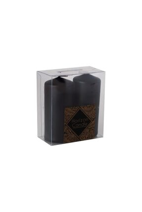 HORİZON CANDLE Siyah Bar Mum Sandal Ağacı Kokulu 2'li Paket 0