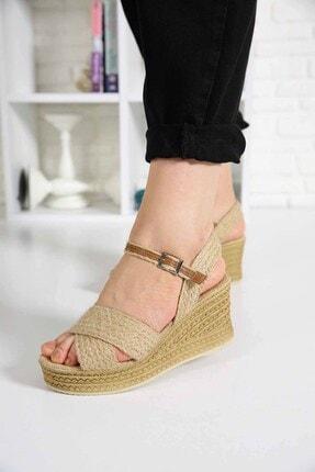 Ccway Kadın Hasır Sandalet 0