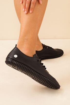 Mammamia Kadın Hakiki Deri Siyah Ayakkabı • A212ydyl0021 4