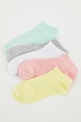 Defacto Kadın Renkli Desenli Patik Çorap 5'li 1