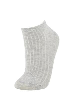 Defacto Kadın Renkli Desenli Patik Çorap 5'li 2